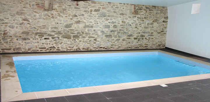 Location gîte piscine intérieure Vendée chauffée 3x5 m