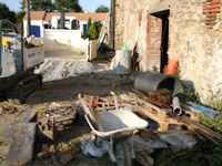 Self catering holidays in France with pool restoration of barn, work begins