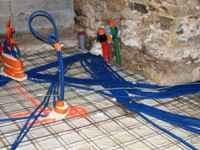 travaux de l'ancienne grange: réseaux et gaines électriques