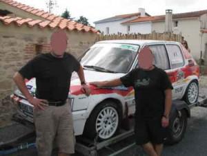 Rallye automobile Côte de lumière: les participants du gîte